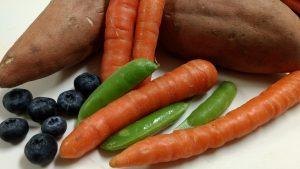 Sweet Potato Carrot Peas